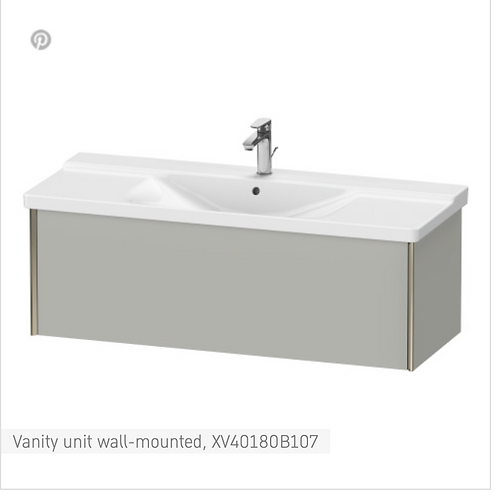 XViu Vanity unit wall-mounted 1210 x 469 mm