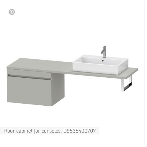 DuraStyle Floor cabinet for consoles 700mm x 548m