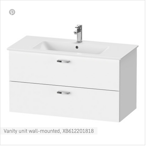 XBase Vanity unit wall-mounted 1000 x 475 mm
