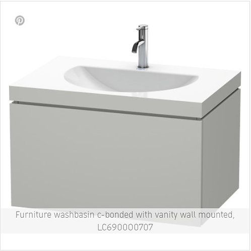 Duravit L-Cube Washbasin  C Bonded with vanity wall mounted 800 x 540
