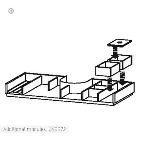 Duravit L-Cube Additional Modules for cabinet width 1000mm