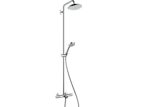 Hansgrohe  Croma Showerpipe 220 1jet with thermostatic bath mixer