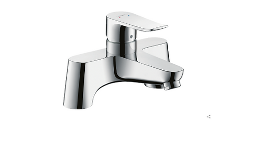 Hansgrohe Metris 2-hole rim-mounted manual single lever bath mixer LowPressure m