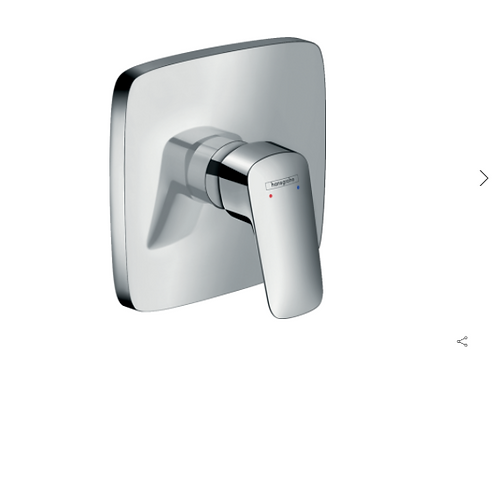 Hansgrohe Logis Single lever manual shower mixer soft cube for concealed install
