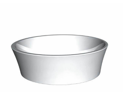 BC Designs Delicata Solid Surface Basin 135 x 450mm
