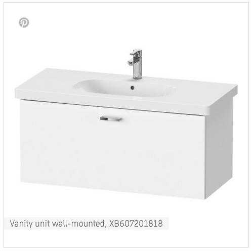 XBase Vanity unit wall-mounted 1000 x 458 mm