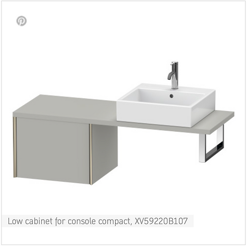 XViu Low cabinet for console compact 500mm x 478mm