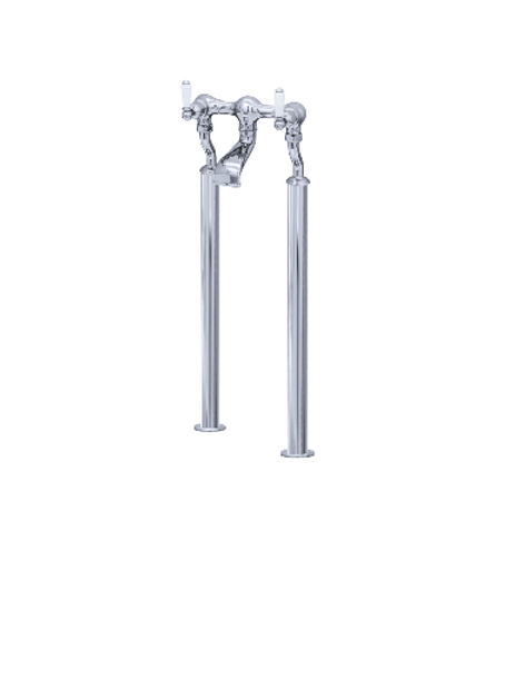 Perrin & Rowe Traditional Floorstanding Bath Filler with Lever Handles