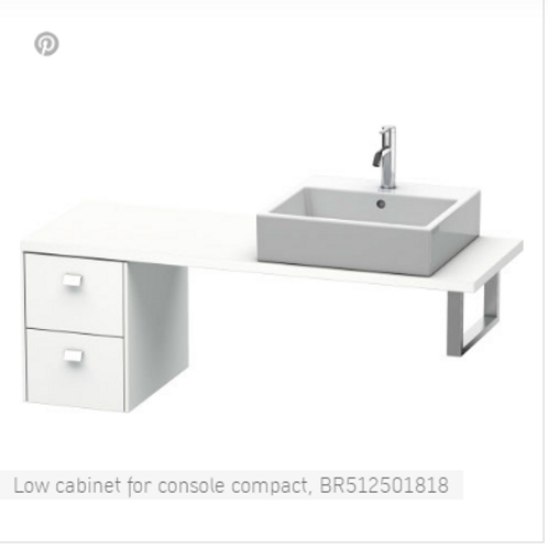 Duravit Brioso Low Cabinet For Console Compact 320mm x 480mm