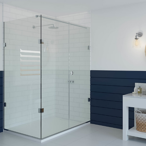 Shower Lab - View 07-Door And Inline Panel + Return Panel Bespoke 2000 x 1100mm