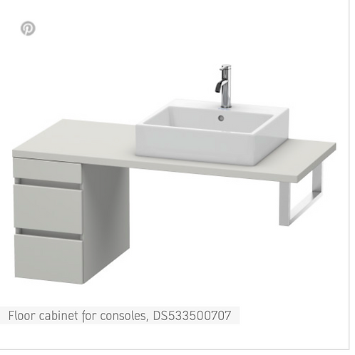DuraStyle Floor cabinet for consoles 300mm x 548m