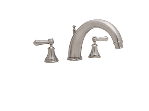 Perrin & Rowe Georgian Three-Hole Bath Filler with 255mm Spout and Lever Handles