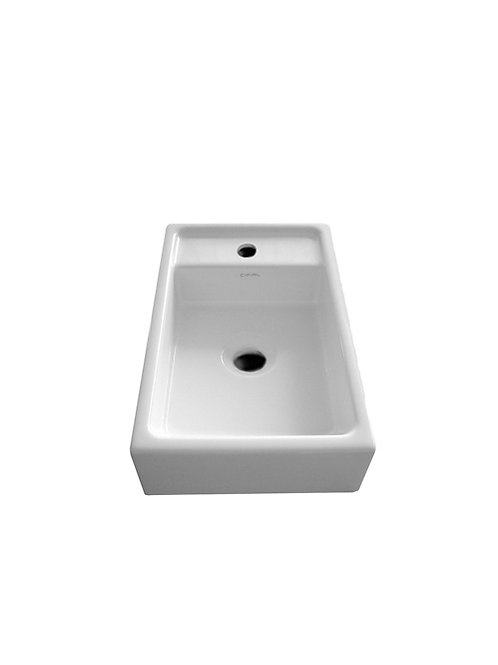 Cifial F5 Cloakroom Basin Central Bowl 1 Tap Hole