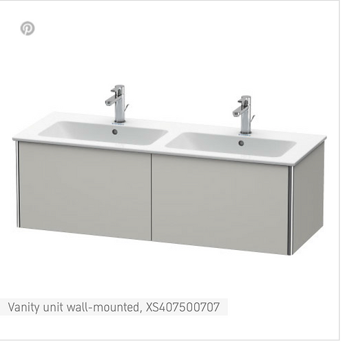 XSquare Vanity unit wall-mounted 1280 x 478 mm
