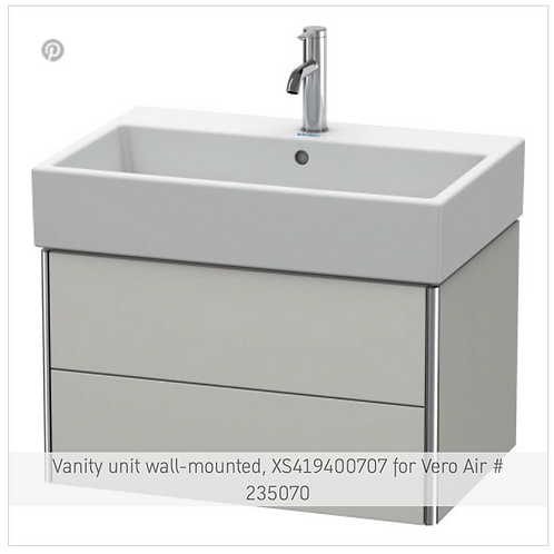 XSquare Vanity unit wall-mounted 684 x 460 mm