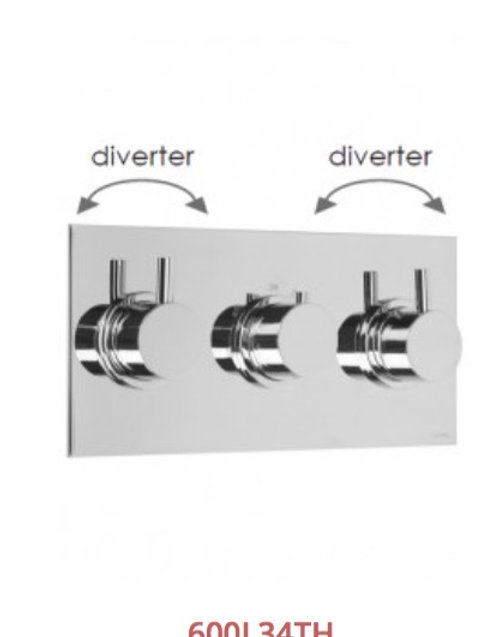 Cifial Technovation 465 3 Control Thermostatic Valve With Double Diverter