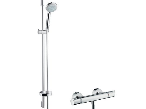 Hansgrohe Croma 100 Shower system Vario with Ecostat Comfort thermostatic mixer