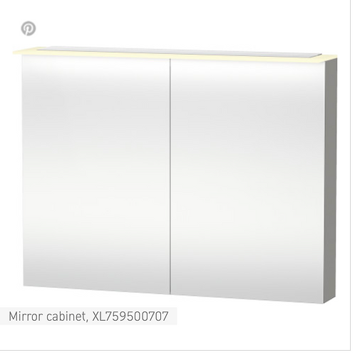 X-Large Mirror cabinet 1200 x 138/208 mm