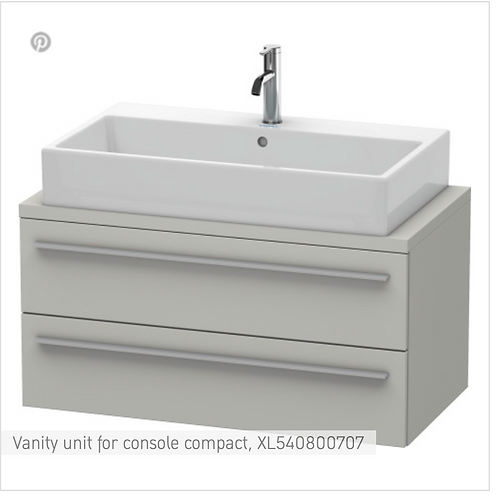 Duravit X-Large Vanity Unit For Console  1000mm x 478mm