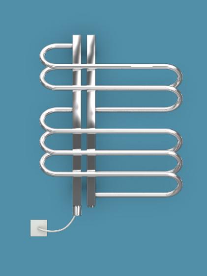 Bisque Orbit 600mm x 500mm Towel Rail - Electric - Left Hand