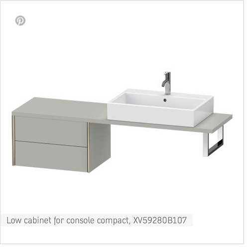XViu Low cabinet for console compact 600mm x 478mm