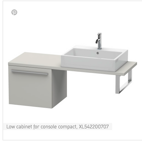 Duravit X-Large Low Cabinet For Console Compact 500mm x 478mm