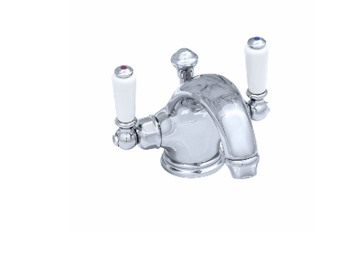 Perrin & Rowe Traditional Monobloc Basin Mixer with Lever Handles