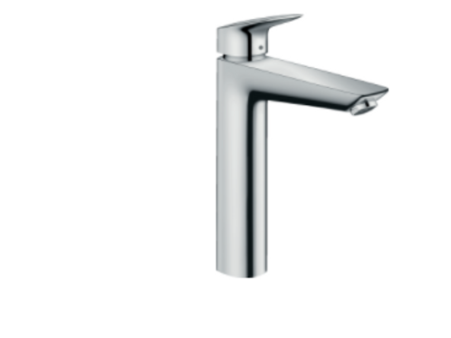 Hansgrohe Logis Single lever basin mixer 190 with 2 flow rates and pop-up waste