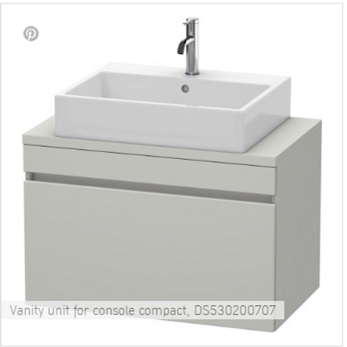 Duravit  DuraStyle Vanity Unit For Console Compact 800mm x 478mm
