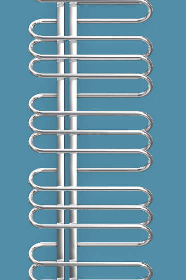 Bisque Orbit 1500mm x 500mm Towel Rail - Left Hand
