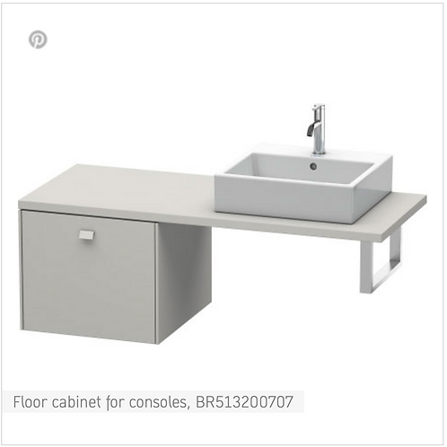 Brioso Vanity unit for console 520mm x 550mm