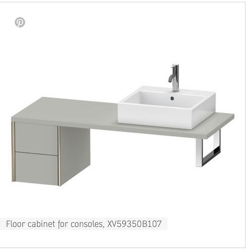 XViu Vanity unit for console 300mm x 548mm