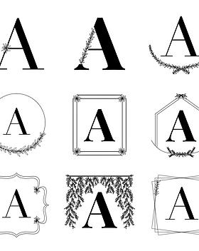 Semi-Custom Monograms