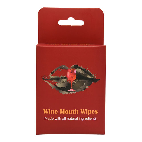 Wine Mouth Wipes- 6pk box