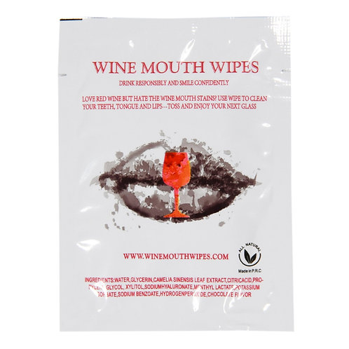 Wine Mouth Wipes - Individual (Single Pack)