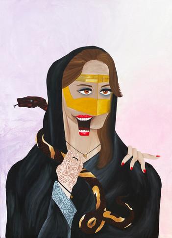 Lady with a snake - المرأة والثعبان