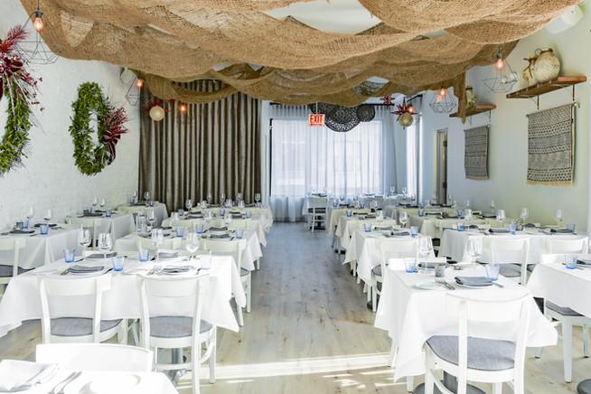 Project: Avli River North Restaurant Interior Design: Gold Coast Design Studio Photo Courtesy of: Stan Estate Photography  custom valance curtains
