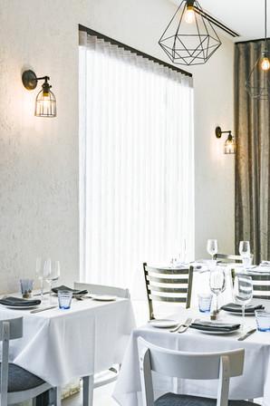 Project: Avli River North Restaurant Interior Design: Gold Coast Design Studio Photo Courtesy of: Stan Estate Photography  custom cafe curtains