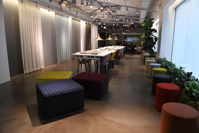 Project: Knoll Chicago Showroom Merchandise Mart Photo Courtesy of: Knoll  ready curtains for the office