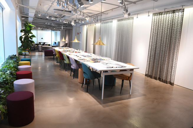 Project: Knoll Chicago Showroom Merchandise Mart Photo Courtesy of: Knoll  custom curtains for office