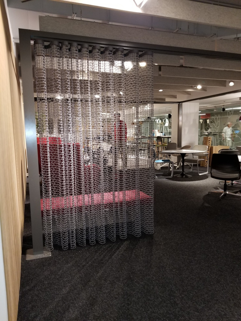 Project: Knoll Chicago Showroom Merchandise Mart Photo Courtesy of: Knoll  fabric partitions for office