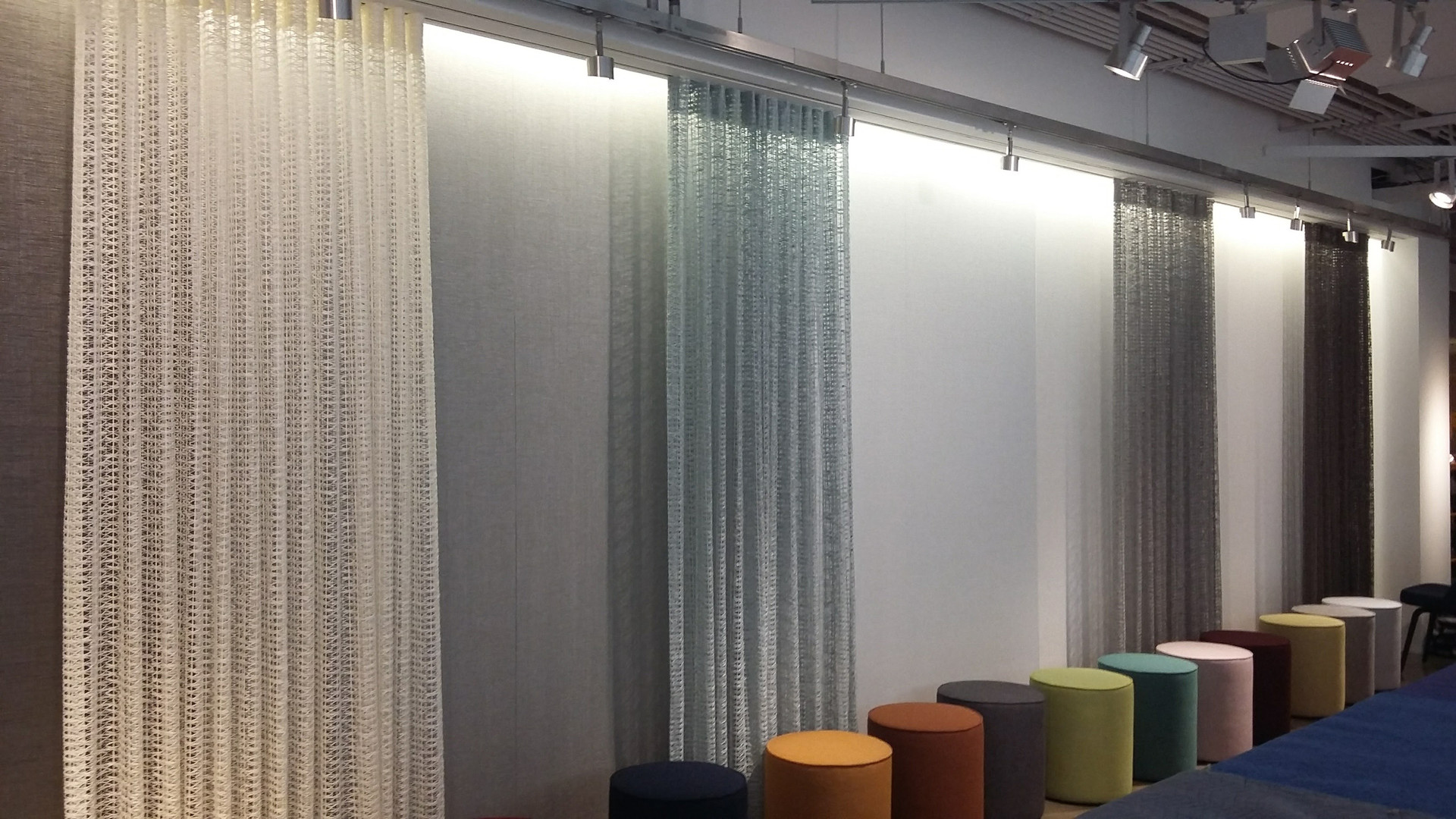 Project: Knoll Chicago Showroom Merchandise Mart Photo Courtesy of: Knoll  curtains in the meeting room