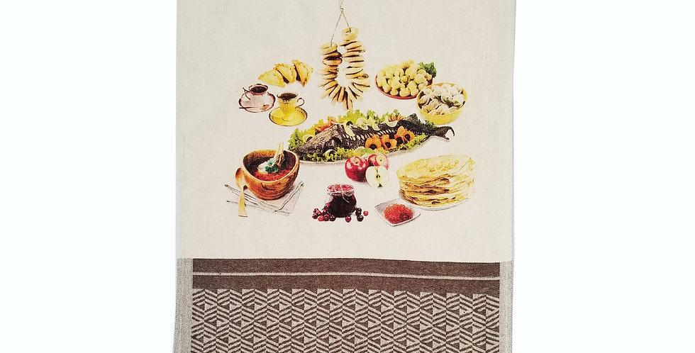 Best linen kitchen towel with world cuisine design