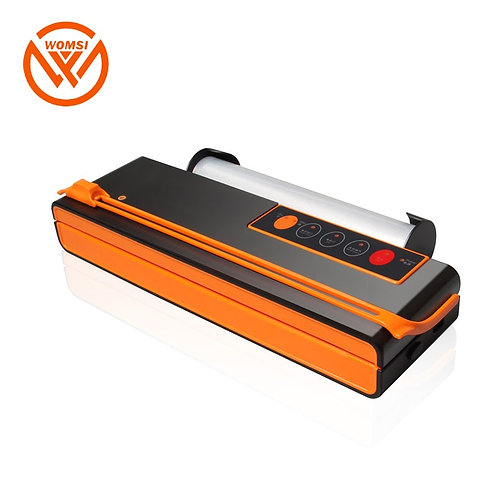 Mini Automatic Food Vacuum Sealer w/ Cutting Knife and Bag Slot includes bags
