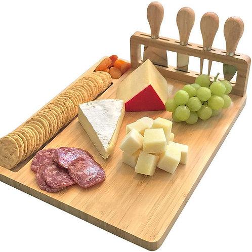 Charcuterie Board Serving Platter + Knife Set