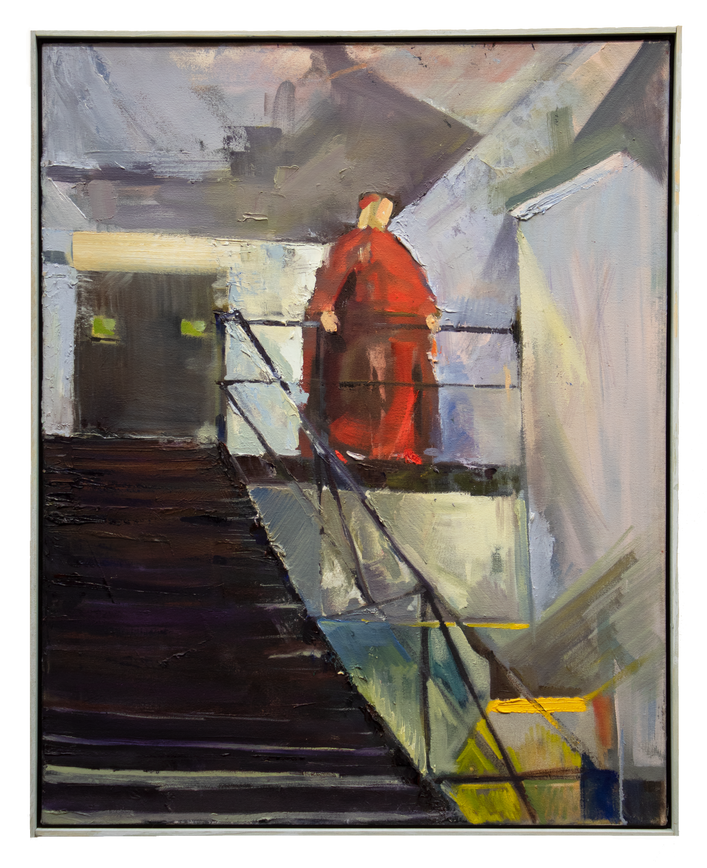 Cardinal on Staircase