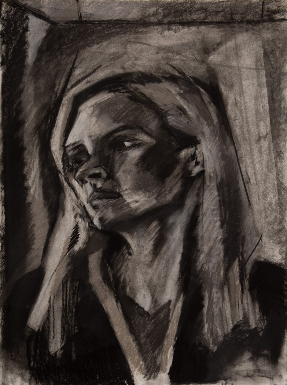 """charcoal on paper 18"""" x 24"""""""
