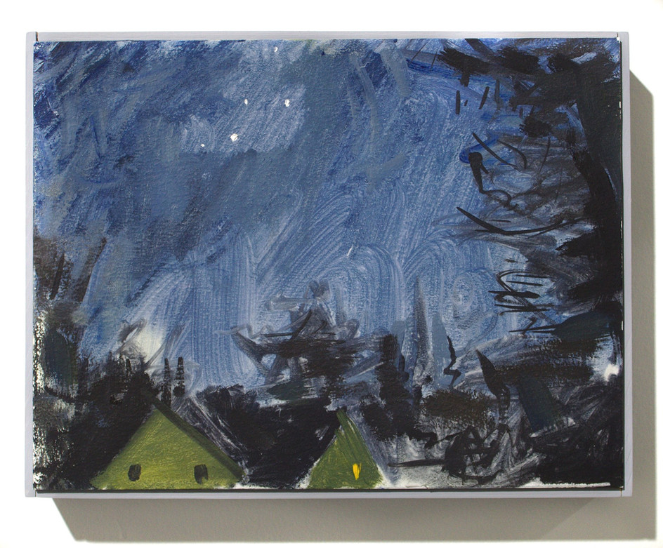 "'Nights Sky', oil on aluminum, 12 x 9"", 2019"