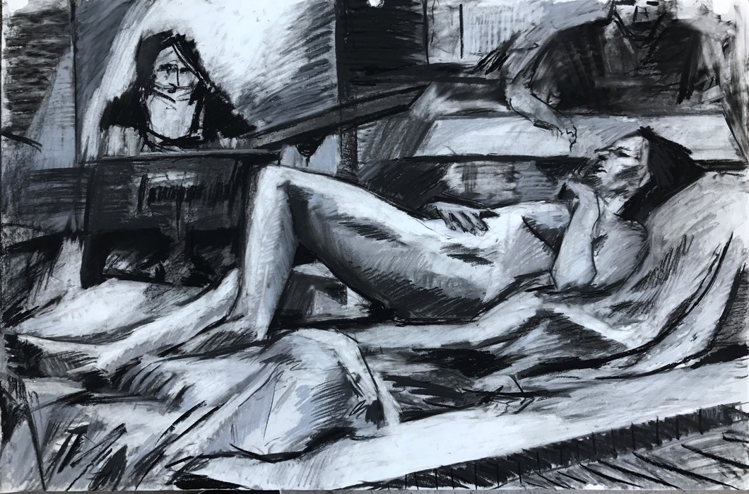 charcoal on paper 2' x 3'