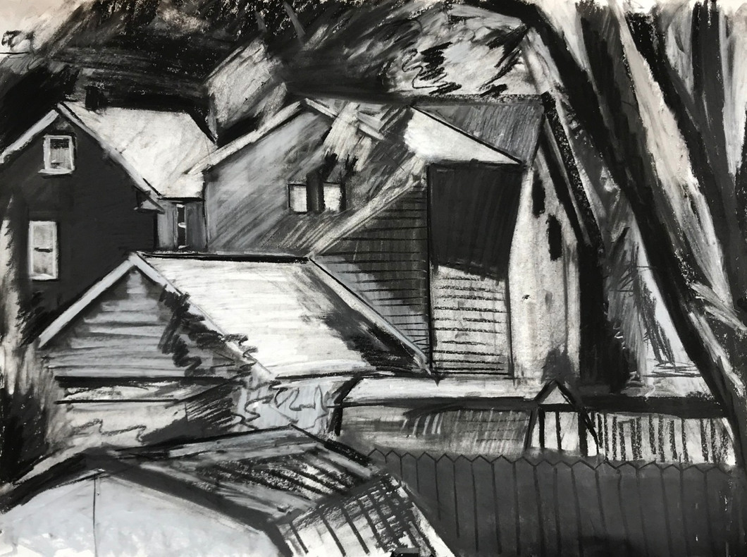 """charcoal on paper 24"""" x 18"""""""